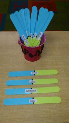 Coffee, Kids and Compulsive Lists: Sharing Sticks. Great for turn-taking, formative assessing, etc.
