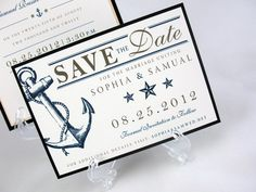 Wedding Save the Date - Nautical, Sailing, Ocean. $2.50, via Etsy.