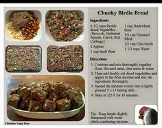 . Animal Nutrition, Health And Nutrition, Bird Bread Recipe, Parrot Chop, Parrot Food Recipe, Cockatiel Care, Bread Ingredients, Parrot Toys, Buckwheat