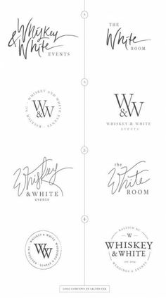 Wedding Event Planner Brand design and Styling by Salted Ink Digital Design Co. Whiskey & White Events custom WordPress Website Design by Salted Ink. Raleigh, NC Graphic and Brand Design. Great Logo Design, Coperate Design, Graphic Design Branding, Identity Design, Typography Design, Logo Branding, Brand Design, Brand Identity, Business Branding