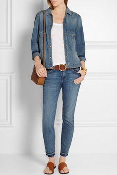 Current/Elliott | The Stiletto mid-rise skinny jeans | NET-A-PORTER.COM