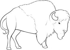 how to draw a bison step 9 Buffalo Painting, Buffalo Art, Native American Design, Native American Animal Symbols, Directed Drawing, Animal Symbolism, Online Drawing, Drawing Sketches, Drawing Guide