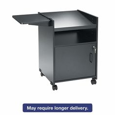 Safco® Economy Mobile Computer/Projector Stand - Two-Shelf - 19-1/2 x 20-1/2 x 30 - Black, SAF8927BL by US | BizChair.com
