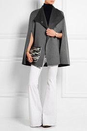 JosephLina brushed wool and cashmere-blend cape