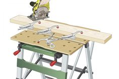 Portable workbenches, such as the Black & Decker Workmate, prove indispensible for many tasks. Table Saw Workbench, Workbench Plans Diy, Portable Workbench, Mobile Workbench, Woodworking Workbench, Woodworking Crafts, Woodworking Store, Workshop Bench, Workshop Ideas