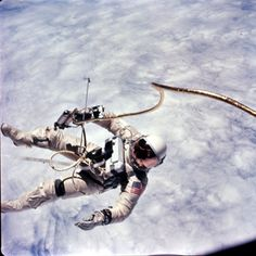 Edward H. White walking in space from Gemini 4.