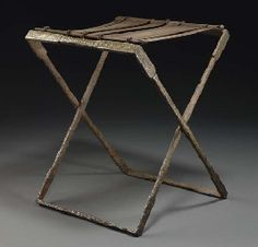 A ROMAN IRON AND BRONZE FOLDING STOOL | EASTERN EMPIRE, CIRCA 2ND CENTURY A.D. | Christie's