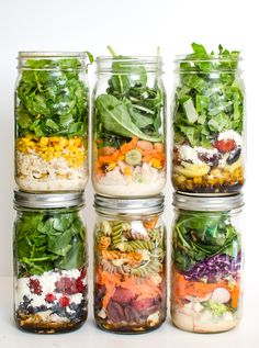 Life gets busy, but that doesn't mean that daily salads are out of your grasp – prep a salad in a jar in advance, and you'll eat well all week long! Salad in a jar is one of my favorite things, and I wanted to revisit them for you today. A few years ago, I