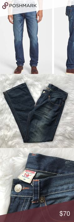 "• True Religion • Zach Men's Jeans Size 34 - True Religion - Men's - Zach Jeans - Size 34 - Inseam 34""  - New without Tags True Religion Jeans Slim Straight"