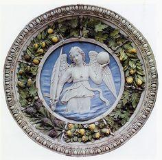 Luca e Andrea della Robbia, Gustizia, 1460 circa. Parigi, Musée de Cluny | da renzodionigi