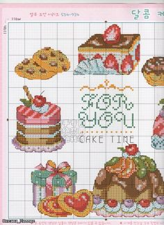 Food gifts: cross stitch cake and strawberries ~ Craft , handmade blog