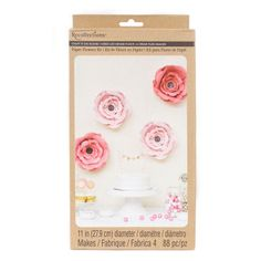 "Recollections™ Craft It™ Big Bloom 28 cm (11"") Paper Flowers, Pink"