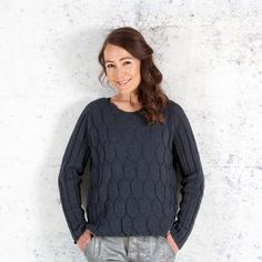Danish knitting design. Yarn from Isager. Black ice - by Annette Danielsen