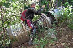 F 4 jet engine found at an undocumented crash site. There is more to this story to be sure. Dak Cheung district Laos