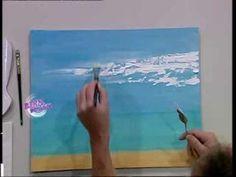 Diego Raimondo - Bienvenidas TV - pinta un Paisaje Marino con espátula, - YouTube