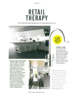 Our new hot water tap Pronteau handpicked by Utopia magazine as part of a feature called retail therapy. Boiling Water Tap, Kitchen Mixer, Taps, Retail Therapy, Kettle, Magazine, Hot, Teapot, Magazines
