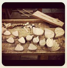 wooden birds #mowk #furniture #wood #ayous #birds