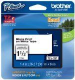"""Brother 1/2"""" Laminated Black On White Tape (1 / Package) (26.2 Ft.)For Use In Tz P-Touch: All Tz Machines, Part Number Tz231, 2015 Amazon Top Rated Adhesives #BISS"""