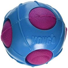 Dual materials create varied textures for long-lasting fun Bounces erratically and floats for interactive games Squeaks to entice play Kong Dog Toys, Dog Chew Toys, Best Dog Toys, Dog Itching, Dog Training Pads, Dog Dental Care, Dog Food Storage, Dog Shower, Dog Shedding