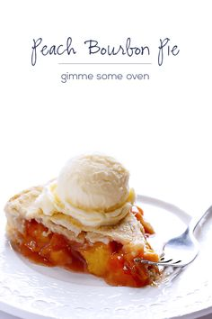 Peach Bourbon Pie Recipe | Gimme Some Oven would be awesome with some crubled bacon on top