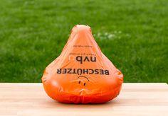 Werbeartikel mit Mehrwert!  Sattelschoner individuell bedrucken. Wasserfest aus PVC