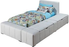 Shop for a Zoey White 4 Pc Twin Storage Bed at Rooms To Go Kids. Find  that will look great in your home and complement the rest of your furniture.