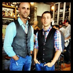 True Mixologists!! Our friends from the bar at Yardbird Southern Table & Bar. Look for these guys in an upcoming shake & stir segment!