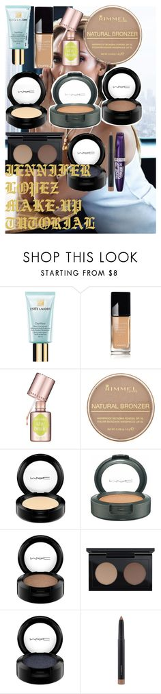"""JENNIFER LOPEZ MAKE-UP TUTORIAL"" by oroartye-1 on Polyvore featuring beauty, Jennifer Lopez, Estée Lauder, Chanel, Benefit, Rimmel and MAC Cosmetics"