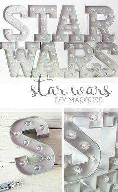 I totally made my eight year old's day with these easy Star Wars @heidiswapp Target DIY Marquee lights!