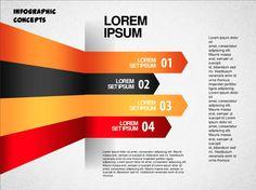 PowerPoint Template 1 Creative Inspiration, Lorem Ipsum, Infographics, Chart, Concept, Templates, Stencils, Info Graphics, Infographic