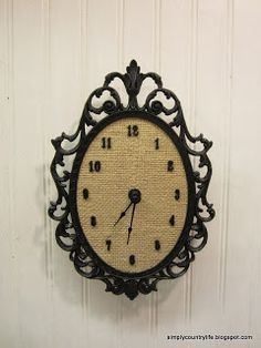 Upcycled Ornate Frame into a Unique Clock