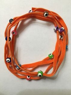 Orange Suede Wrap Bracelet With Colorful Evil Eye Beads Ebay Fashion Bracelets