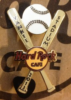 Hard Rock Cafe Yankee Stadium Baseball Pin. I may dislike the Yankees, but the fact that there is a HRC at the stadium...I respect them!!