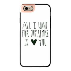 All I Want for Christmas - iPhone 7 Case, iPhone 7 Plus Case, iPhone 7... ($40) ❤ liked on Polyvore featuring accessories, tech accessories, phone cases, phone, cases, iphone cases, iphone cover case and apple iphone case