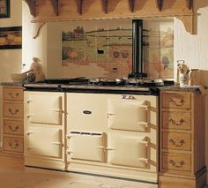 Are you looking for an upscale oven for your kitchen? An Aga cooker, or an Aga range is a brand of cast-iron stored-heat cooking stove popular with foodies worldwide. Aga Cooker, Oven Cooker, Vintage Appliances, Kitchen Appliances, Aga Kitchen, Wolf Appliances, Kitchens, Green Kitchen, Aga Oven