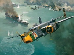 Raid on China Coast-Airplane Battle-Ship-1000 Piece Jigsaw Puzzle-SunsOut-New, $16.50