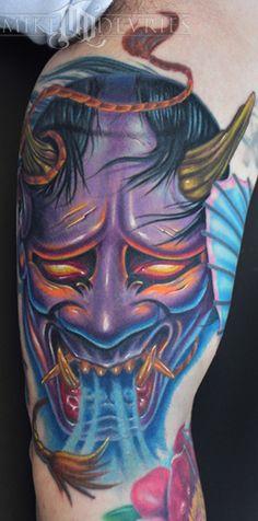 Significados das Tatuagens     Ao contrário do que possa parecer o Hannya ou as máscaras como as chamamos, nada tem a ver com o Diabo e S...