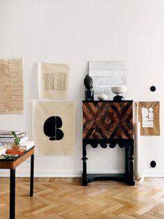 my scandinavian home: The creative home of a Swedish artist Home Interior, Interior Styling, Minimal Apartment, Chevron Floor, First Home, Creative Home, Elle Decor, Decoration, House Design