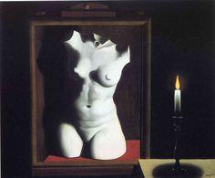 René Magritte, 'La luz de la coincidencia', 1933 / arte, pintura, surrealismo