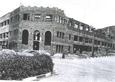 Colegio del Pilar en mayo de 1936, todavía en plena construcción.  tetuan en construccion