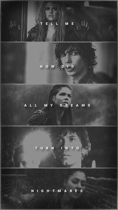 Tell me. - The 100 - Clarke - Raven - Bellamy - Octavia - Jasper