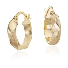 Blue Nile Twisted Hoop Earrings ($115) ❤ liked on Polyvore featuring jewelry, earrings, yellow gold hoop earrings, 14 karat gold earrings, twist earrings, gold earrings and gold jewelry