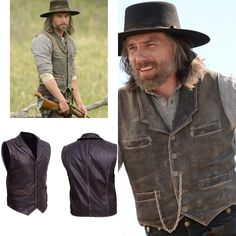 This vest is made Cowhide Leather with double stitching for durability. It  features a distressed d26f53a4e