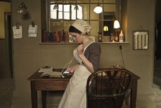 "…Daisy using an iPHONE… | 29 Photos Of The Cast Of ""Downton Abbey"" Being Totally Un-Downton-Like"