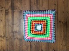 """Pillow for Christmas! Hand Knitted Pillow -  American Amish Style """"Elena"""""""