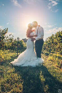 outdoor winery wedding photos in the vinyards