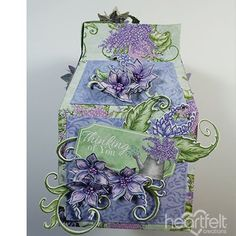 Boxed Lilacs - #HeartfeltCreations #cardmaking #scrapbooking #papercrafts #alteredart #anyoccasion #lilacs #justbecause #friendship #giftbox #gift #giftidea
