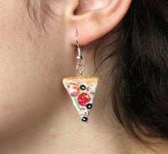 Pendientes de Miniatura Pizza.