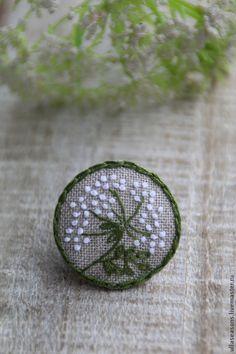 Купить Брошь - ярко-зелёный, брошь, брошь цветок, брошь ручной работы, брошь с вышивкой