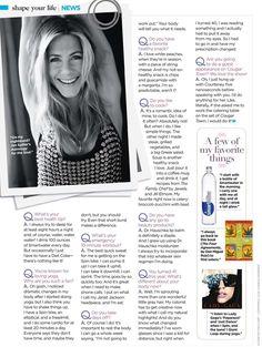 Jennifer Aniston shares fitness secrets with Shape magazine